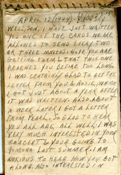 1944 WWII POW Journal Entry – Earl Ray Brewster
