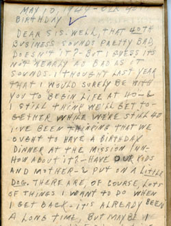 Earl Ray Brewster – Cardboard Journal Page 6