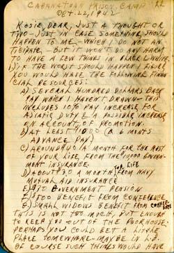 Cabanatuan Prison Camp – Brewster Canvas Journal 1 – WWII POW