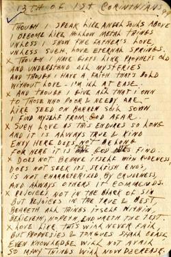 Poem – 13th of 1st Corinthians – Earl Brewster