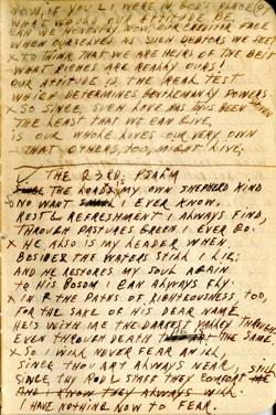 23rd Psalm Poem – Earl Ray Brewster