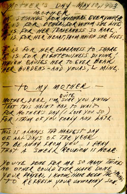 Mother's day 1943 poem