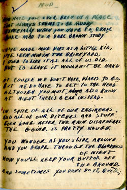 Mud – Poem by Earl Ray Brewster (during WWII)