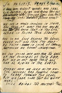 A Pacific Prayer – WWII Journal – Chaplain Brewster