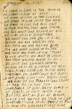 Standing in Line Poem Journal Entry – Earl Ray Brewster