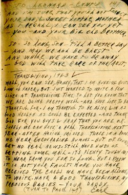 Christmas 1943 WWII Journal Entry – Earl Ray Brewster