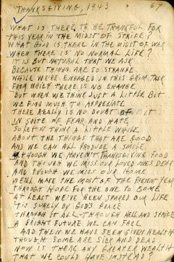 Thanksgiving 1943 Poem – WWII – Earl Ray Brewster